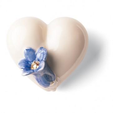 Porzellan Herz Enzian Denz