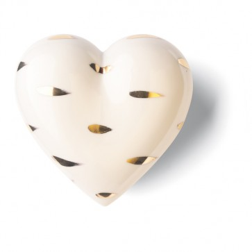 Porzellan Herz Goldflug Denz