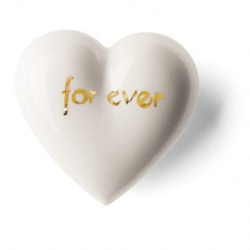 Porzellan Herz For ever Denz