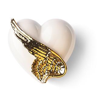 flügel Porzellan Geschenk Denz Herz
