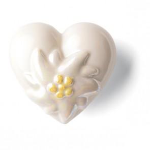 Porzellan Herz Edelweiss Denz