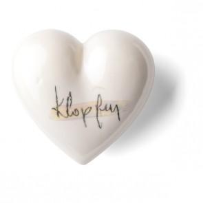 klopfen Porzellan Geschenk Denz Herz
